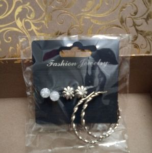 Jewelry - NWT 3 Pairs of Earrings -Silver